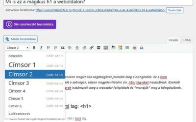 h2 html tag az alcím és mi még?